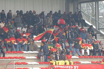 Les supporters du Ghana - Ajax Foto Side